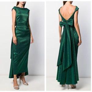 NWT Talbot Runholf Tomislava1 Green Metallic Gown